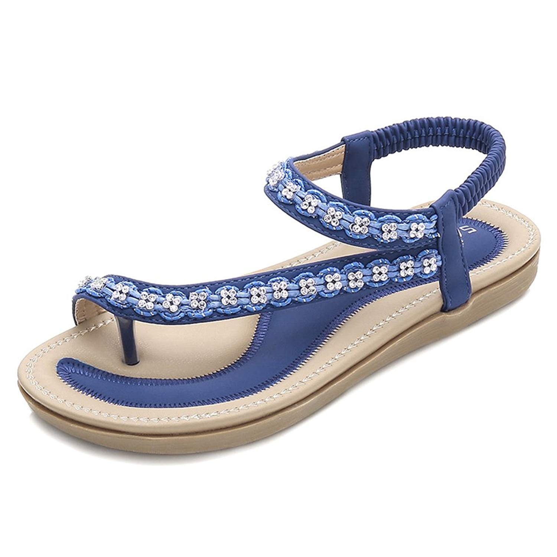 84de34c9e Women Fashion Flip Flops Flat Slipper Braided Summer Shoes Thong Sandals  (US 7  Asia
