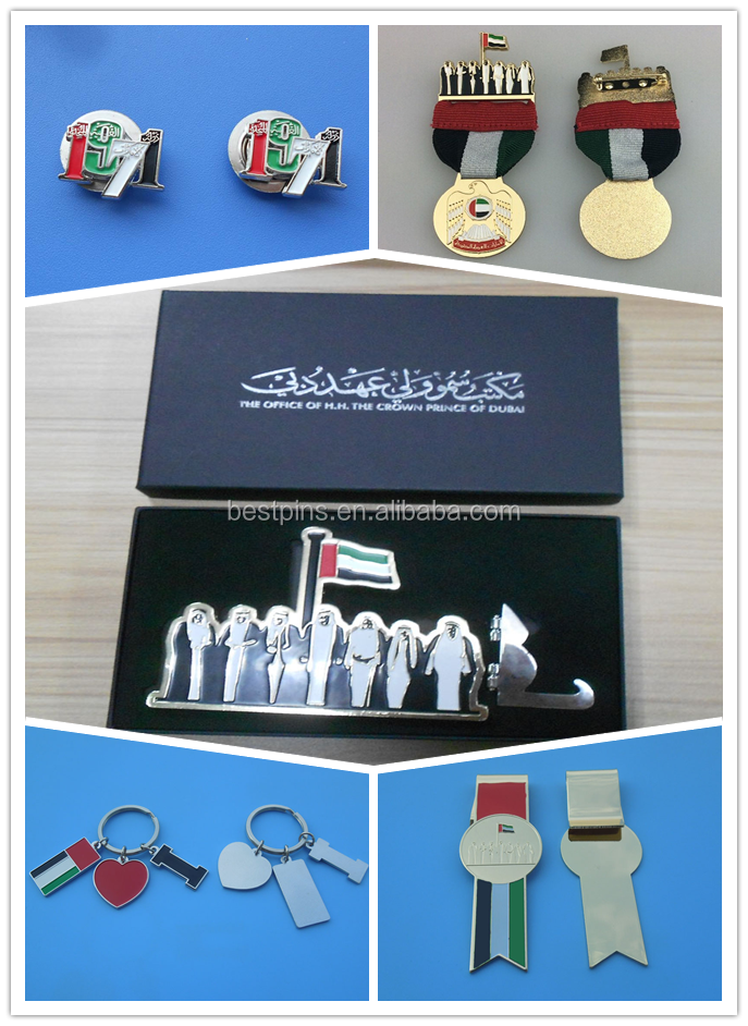 national day 44 UAE logo 1971 sheikhs seven logo bookmark, badge, falcon medal with uae flag scarf