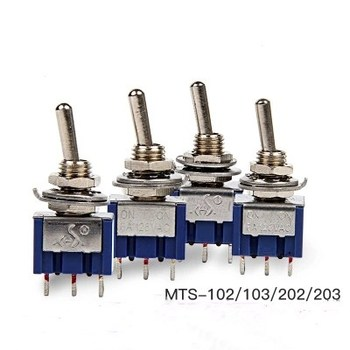 Miniature Toggle Switch MTS-102/103/202/203 SPDT 6A 125VAC/3A 250VAC Mini Switch Lever Switch 3 Pin ON/ON