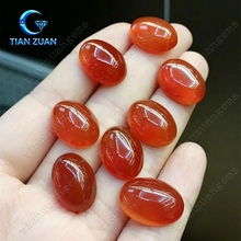 High quality oval cabochon shape natural red agate gemstone for jewelry business