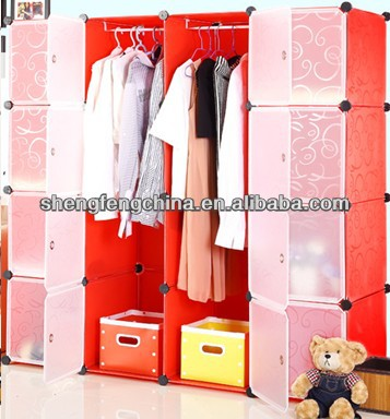 Attrayant Diy Storage Cube Cabinet Wardrobe Cabinet Diy Toy Cupboard Shelves 12 Cubes  Hanger   Buy Diy Pp Storage Cabinetpp,Pp Clothes Hanger For Diy Storage  Rack,Pp ...