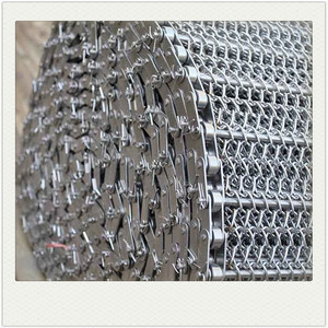 High temperature ptfe stainless steel wire mesh conveyor belt