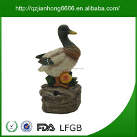 Top Quality Duck Shape Custom Resin Fake Figurines Statues Crafts