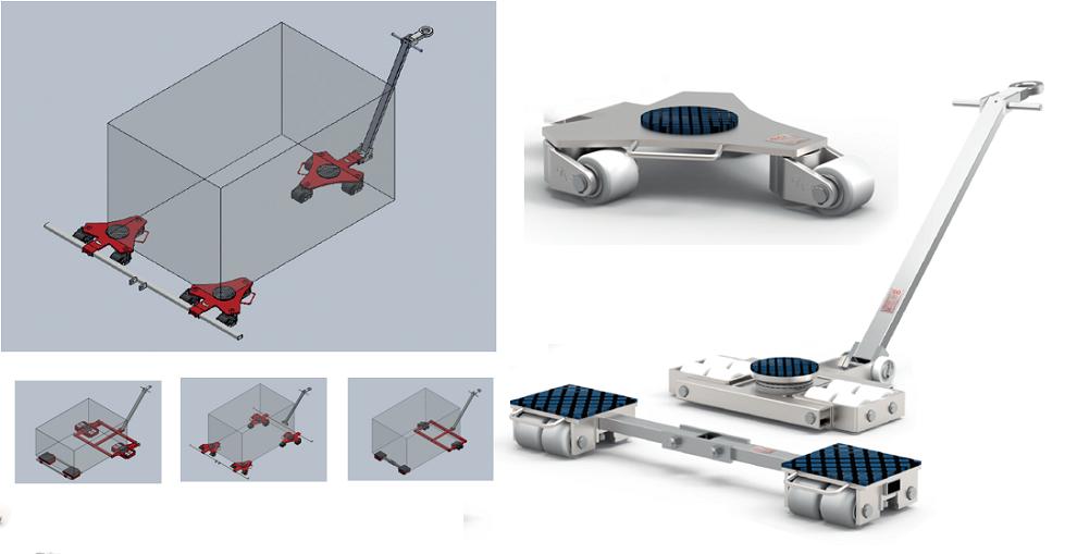 Grote cargo pallet/Moving skate/Transport roller trolley