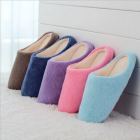 Winter new fashion Japanese style faux fur slipper women plush indoor cotton slipper LYWS011