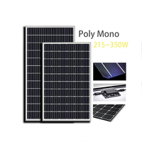 30 Years Warranty supplies transparent daylight solar panel poly 350w solar panel
