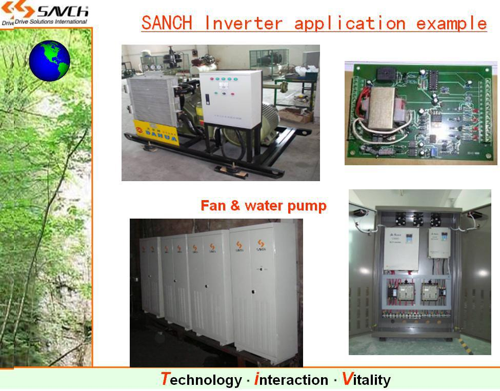 Sanch S2800 160kw high torque sensorless vector control ac variable frequency inverter for 3 phase motor