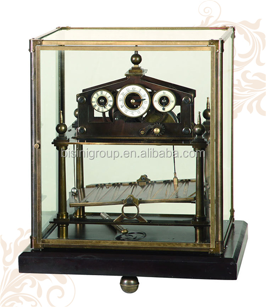 Imitation Retro Art Clock, Exquisite Mechanical Table Clock, Four Sides Skeleton Table Clo