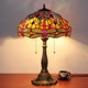 China Supplier antique real stained glass tiffany table lamp