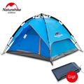 210 180 130 cm New Arrived Double Layer 3 4 Person Outdoor Camping Automatic Tent NatureHike