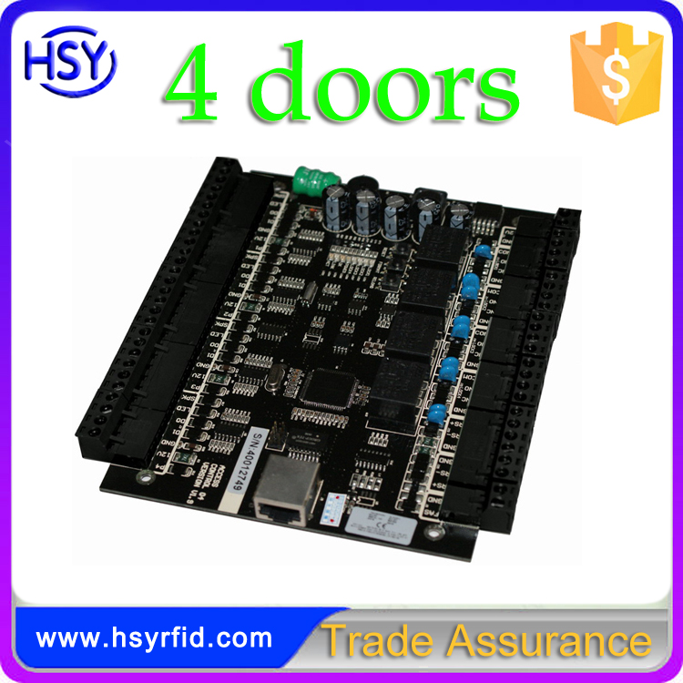 HSY-04 TCP/IP card access control panel with power supply and metal box