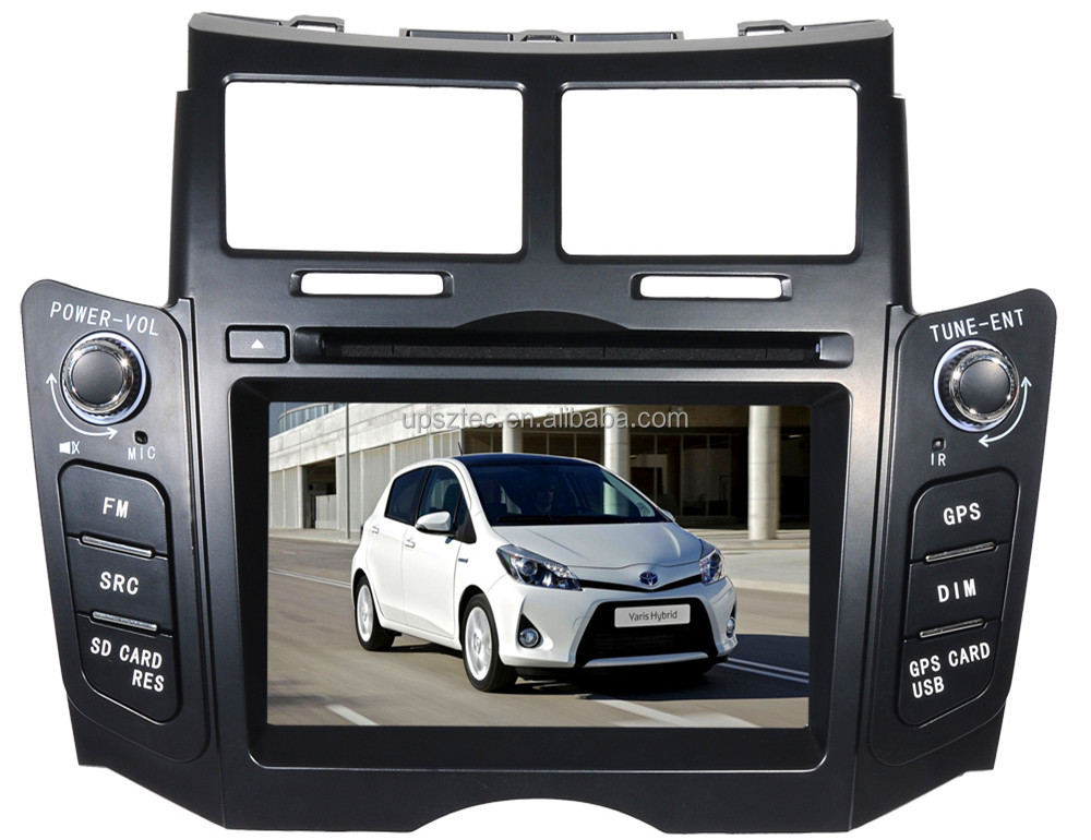 "Wince 6.0 Two DIN 6.2""LCD-TFT touch screen with gps navigation <strong>car</strong> DVD player for <strong>Toyota</strong> Yaris Black"