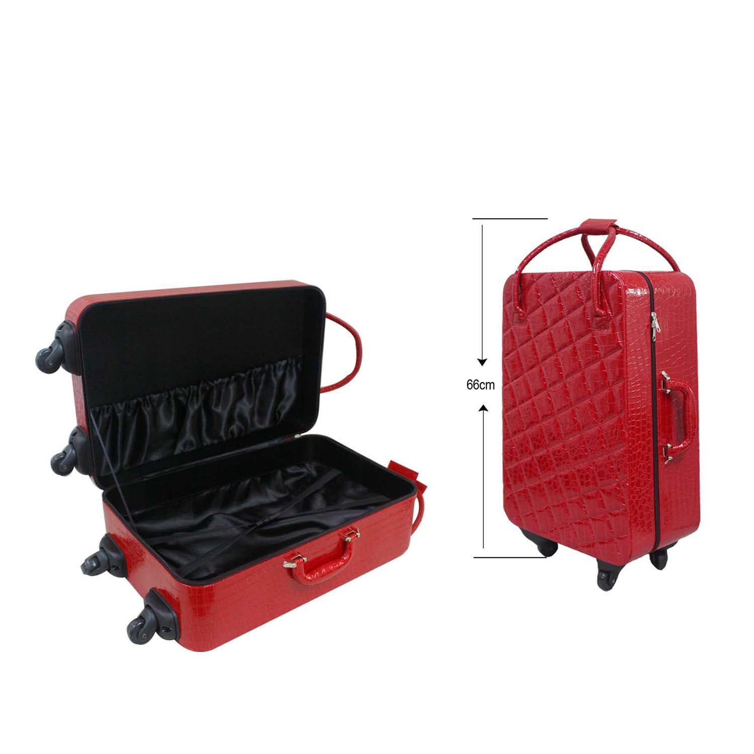 Professional black  pu leather suitcase for business
