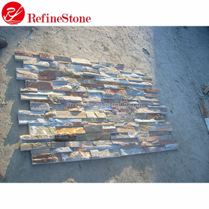 Interior natural stone veneer, Mixed color wall stone panel, culture stone