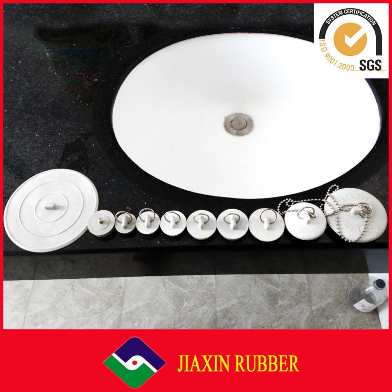 China Factory Price Rubber Plastic Bathtub Drain Plug With Chain, Drain Plug,  Seal Stopper