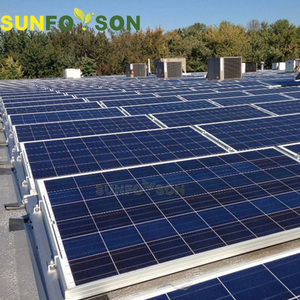SUNRACK 20kw Flat Roof Solar Panel Ballast Mounting System/ Durable Solar Energy Support Bracket