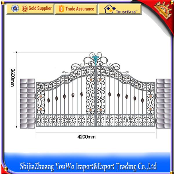 2015 New Models Galcanized Cast Iron Square Tube Main Gate Design ...