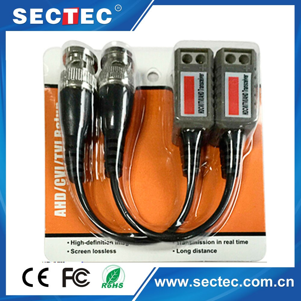 Cctv Camera Accessories Audio Video Balun Transceiver Bnc Utp Rj45 Video  Balun With Audio And Power Over Cat5/5e/6 - Buy Wireless Video Balun,Bnc To