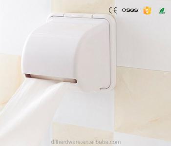 White Cheap Toilet Paper Roll Holder Paper Box Plastic