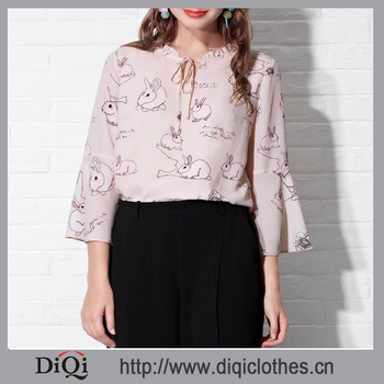 9914f66f3bc Chiffon Elegant Blouse with Conbintion Lapel Tops Plus Size for Young and Middle  Aged Women Clothes