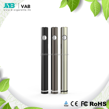 Hot selling oil cbd vape pen printer ink cartridge 400 mAh battery VAB with pre-heat function & 2~4 V adjusting voltage knob