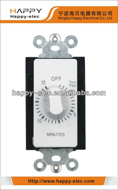 15 min countdown in wall mechanical spring wound timer