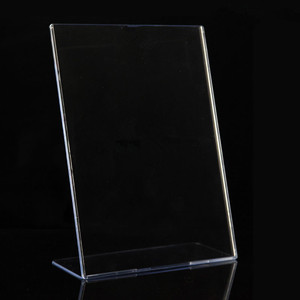 High Quality Clear Acrylic L Stand Horizontal Sign Display Paper Promotion Card Table Label Holder 10 pack of A5 8.5 x 11-Inches