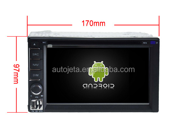 Android 7.1.1 2GB ram car dvd Audio player universal double din 170*97mm stereo auto head units 3g DVR tape recorder gps navi