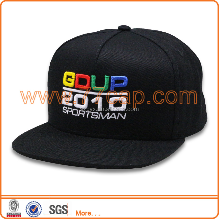 Wholesale cheap stock snapback cap with 3d embroidery