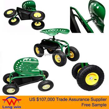 Garden Tractor Scoot With Drainage Holes And Storage Tray