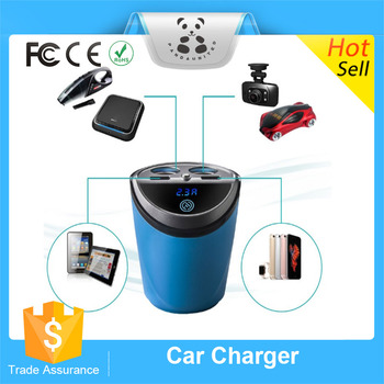 2016 Dual Usb Ports Car Charger Cup Holder Mount Fast Charger With ...