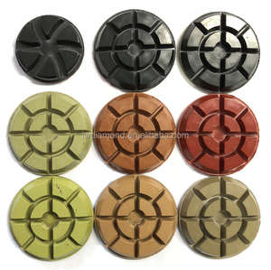 factory 4 5 7 10 inch 3 step dry tools abrasive set resin concrete floors disc diamond polishing pads for marble granite