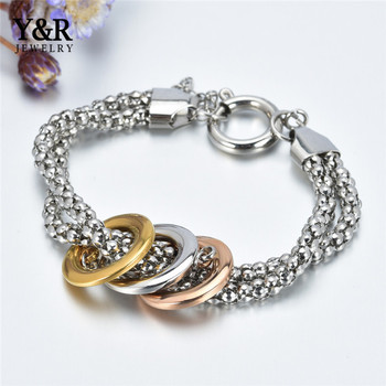 Bulk High Quality Charm Stainless Steel Jewelry Chain Bracelet
