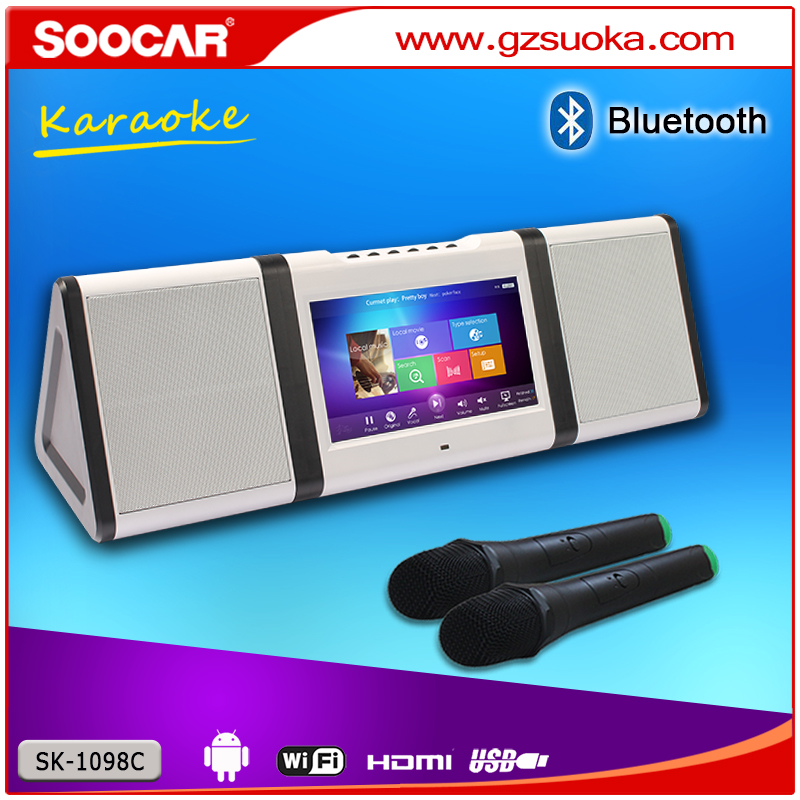android 1 tb hdd karaoke for kids children karaoke machine with wifi bluetooth wireless MIC musical instrument