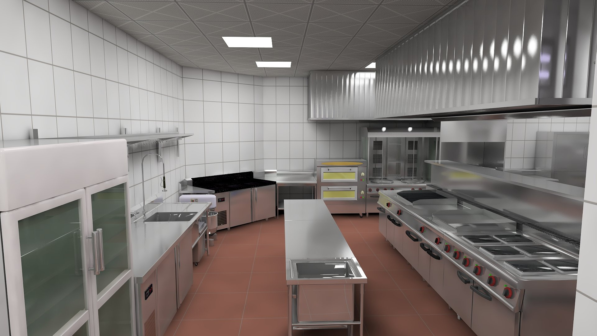 Commercial Kitchens Layout With Vr Kitchen Design And 3d