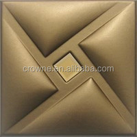 2015 Classic Faux Leather 3D Wall Panel For Bar And Hotel Luxury Decoration Panel