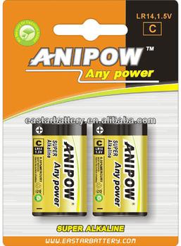 Blister Card 1 5v Lr14 Alkaline Batteries C Lr14 Batteries 1 5v Lr14