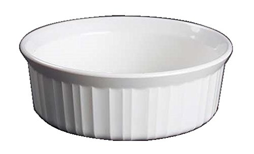Corning Ware French White Round Casserole / No Lid ( 24 Oz / 1 1/2 Pint ) ( F-24-B )