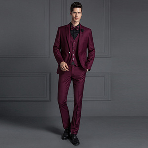 guangzhou clothing factory men red dress indo western suit
