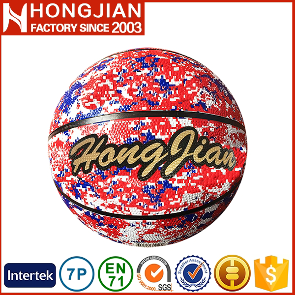 HB037 2016 official wholesale rubber basketball