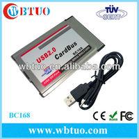 54mm PCMCIA to 2 Port USB 2.0 CardBus 480M usb expansion card