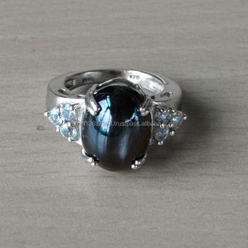 Black Dposite Silver Ringwomen's Aquamarinesilver Original Ring ...