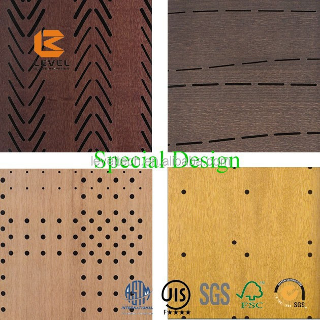 Perforated Wooden Acoustic Panel For Studio Wooden Acoustic Panels Timber Ceiling Cladding