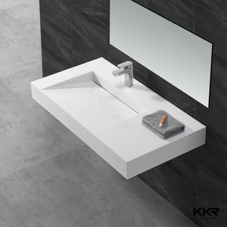 rectangular above counter resin basin pure white matt stone resin sink buy pure white matt. Black Bedroom Furniture Sets. Home Design Ideas