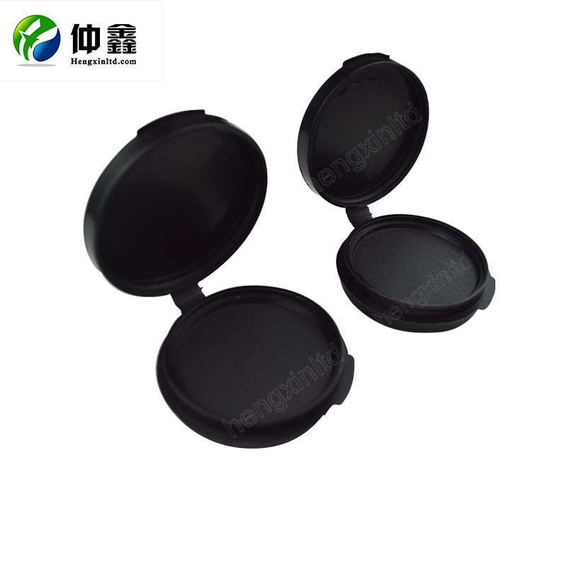 Round Office Fingerprint Stamp Pad/Plastic Black Stamp Ink Pad for voting