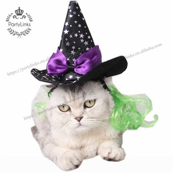 Wizard Stars Sharp Hat For Dog Cat Pet Halloween Party Cap Headwear Lovely Decorating Star Cap Fancy Pet Accessories