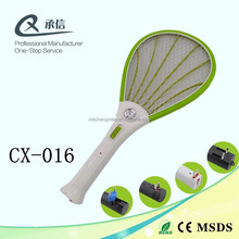 High Quality White Handle Rechargeable Mosquito Swatter Racket Insect Kille Bat with LED Light