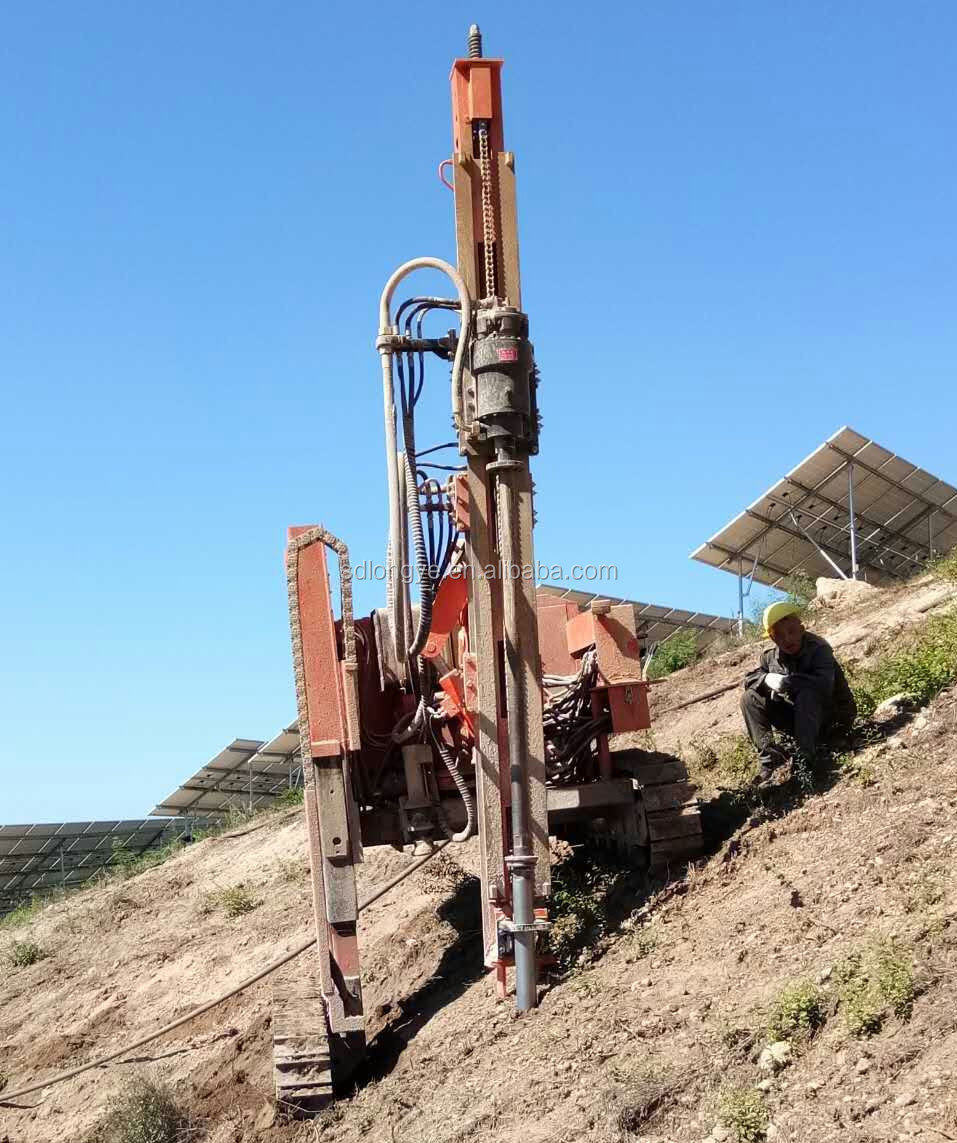 Slope mountain Excavator Mounted Solar Pile Driver Piling Machine MZ398Y