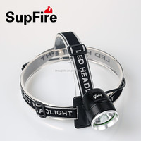 SupFire rechargeable hiking outdoor powerful dual-use led headlamp & bicycle light