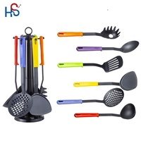 Kitchen Cooking Utensils Gadgets 6 Piece Set Tools Spoon Spatula Nylon New Cook Utensil cooking supplies kitchen gift set
